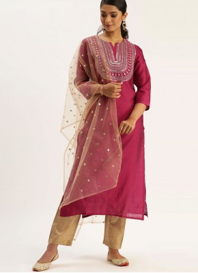 Floral Silk Fancy Readymade Suit
