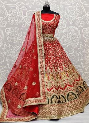 Genius Embroidered Bridal Lehenga Choli