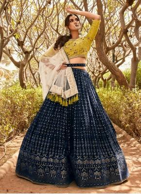Georgette Beads Designer Readymade Lehngha Choli