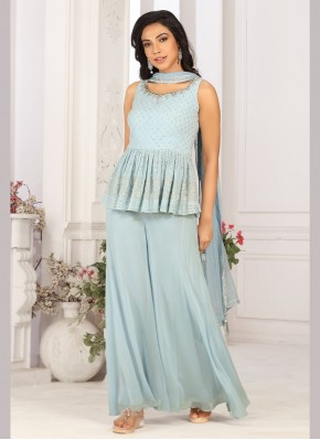 Georgette Designer Ready made Palazzo Dress for Ceremonial