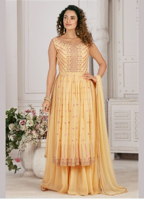 Georgette Designer Ready made Palazzo Dress for Festival