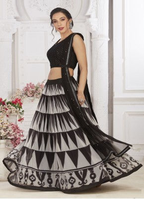 Georgette Ready Made Crop Top for Festival