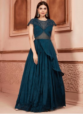 Georgette Readymade Suit in Teal