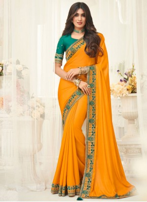 Gilded Embroidered Ceremonial Classic Saree
