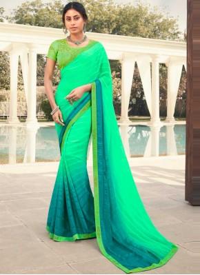 Gilded Green Shaded Saree