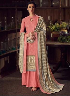Girlish Pink Digital Print Designer Salwar Kameez