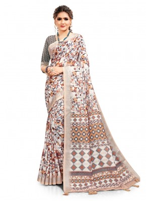 Glamorous Multi Colour Festival Printed Saree