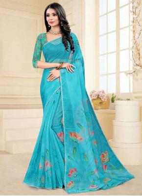 Glamorous Printed Saree For Ceremonial