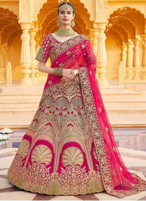 Glamorous Velvet Wedding Designer Lehenga Choli