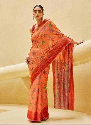 Gleaming Satin Blend Saree