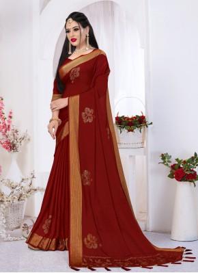 Gleaming Satin Silk Festival Trendy Saree