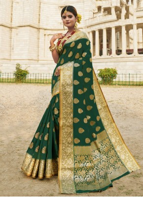 Gleaming Woven Traditional Designer Saree