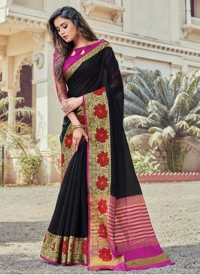 Glorious Black Classic Saree