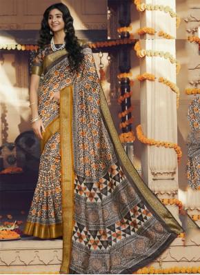 Glorious Multi Colour Silk Classic Saree