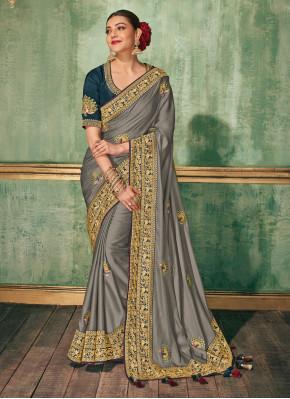 Glorious Silk Embroidered Classic Saree