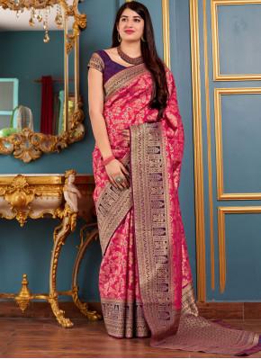 Glossy Art Silk Woven Traditional Designer Saree