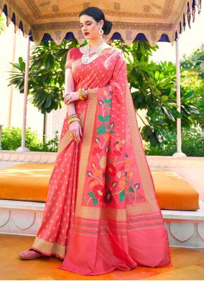 Glossy Handloom silk Classic Designer Saree