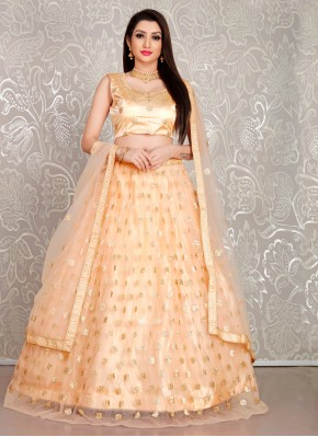 Glowing Peach Reception Lehenga Choli