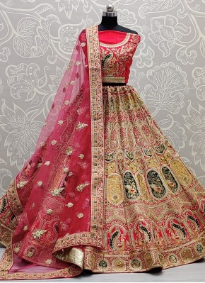 Glowing Pink Sangeet Lehenga Choli