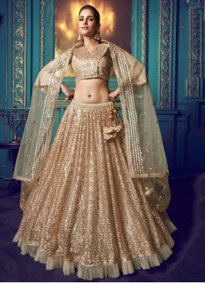 Gold Color Lehenga Choli