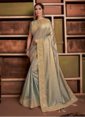 Gold Party Contemporary Saree