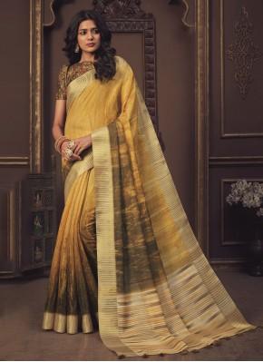 Gold Printed Shaded Saree
