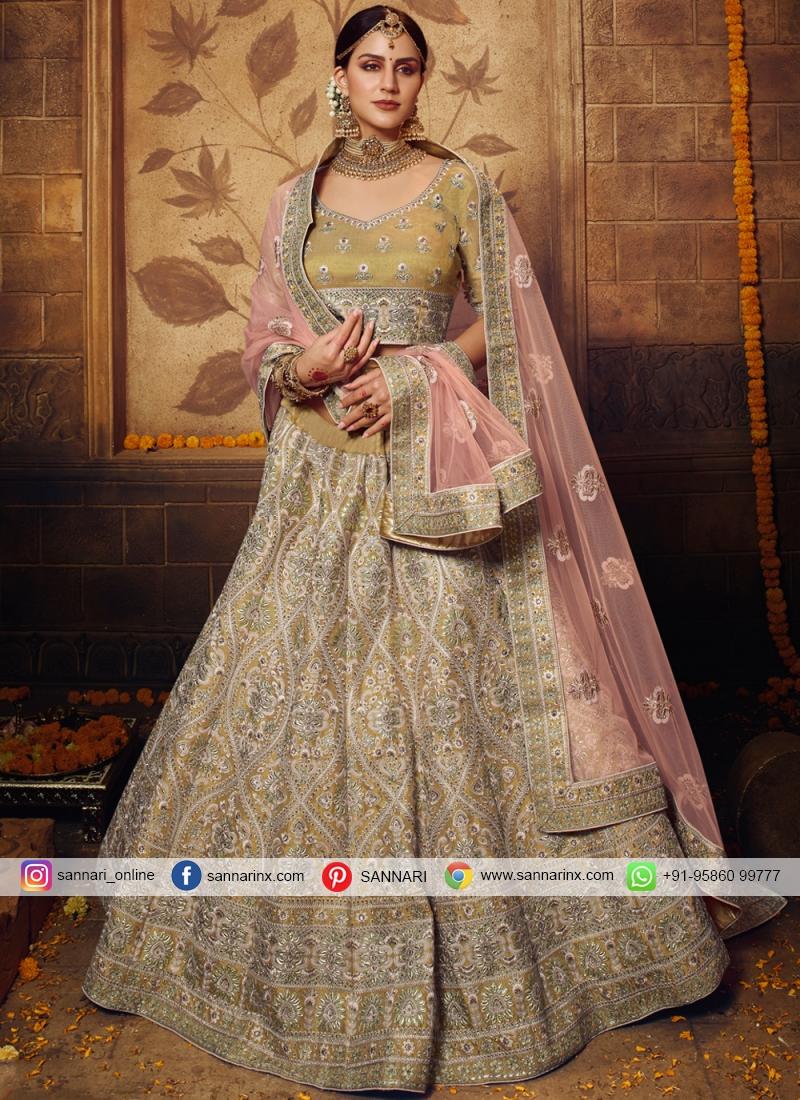 Gold Stone Net Bollywood Lehenga Choli