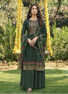Gorgonize Cotton Digital Print Green Designer Palazzo Salwar Suit