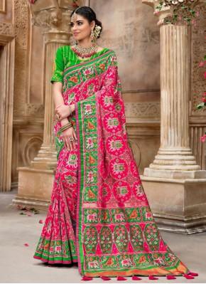 Gorgonize Patola Silk  Pink Traditional Designer Saree
