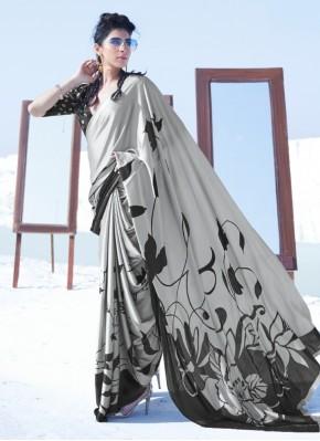 Grandiose Crepe Silk Printed Multi Colour Casual Saree