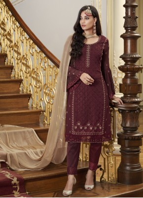 Grandiose Faux Georgette Designer Pakistani Suit