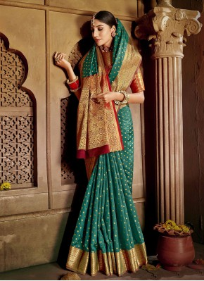Grandiose Weaving Silk Rama Traditional Saree