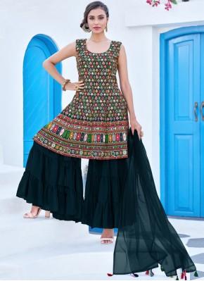 Gratifying Georgette Multi Colour Readymade Salwar Kameez