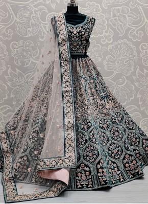 Gratifying Sequins Velvet Lehenga Choli