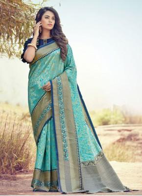 Gratifying Traditional Designer Saree For Ceremonial