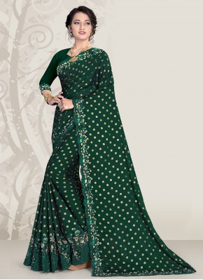 Green Banglori Silk Designer Traditional Saree