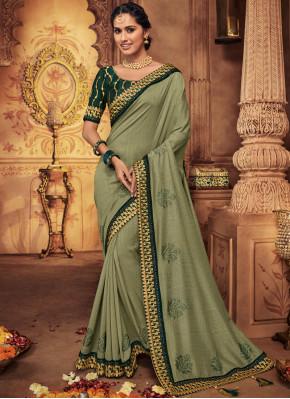 Green Bridal Classic Saree