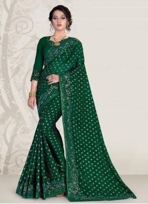 Green Ceremonial Banglori Silk Traditional Saree