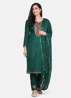 Green Color Designer Suit