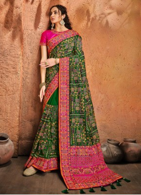 Green Diamond Sangeet Designer Traditional Saree
