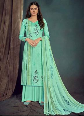 Green Digital Print Bollywood Salwar Kameez