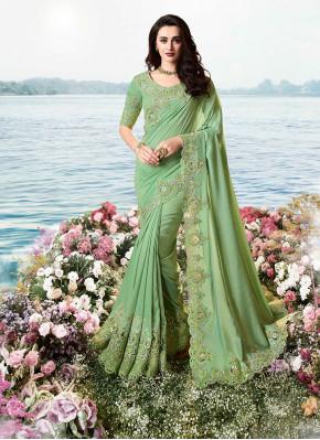 Green Festival Classic Designer Saree