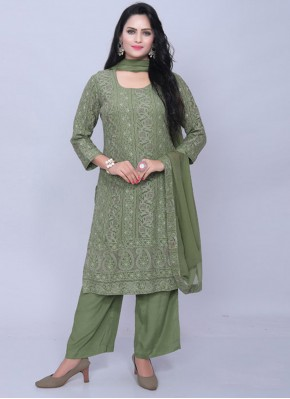Green Georgette Designer Pakistani Suit