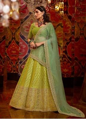 Green Net A - Line Lehengha choli for Ceremonial