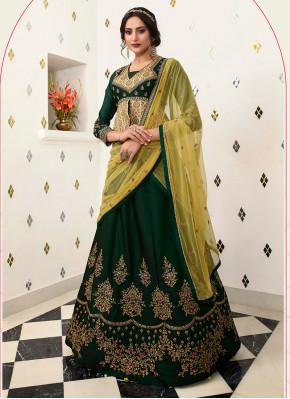 Green Net Bridal Lehenga Choli