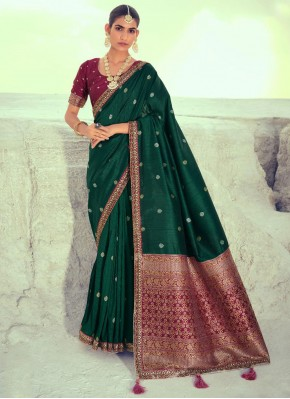 Green Party Traditional Designer Saree