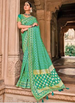 Green Reception Silk Traditional Saree