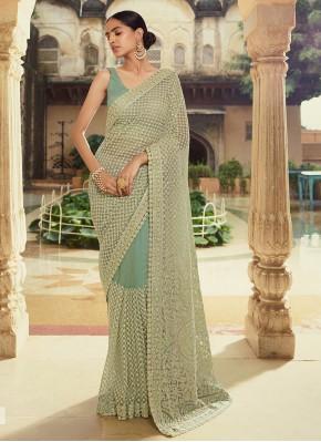 Green Sequins Trendy Saree