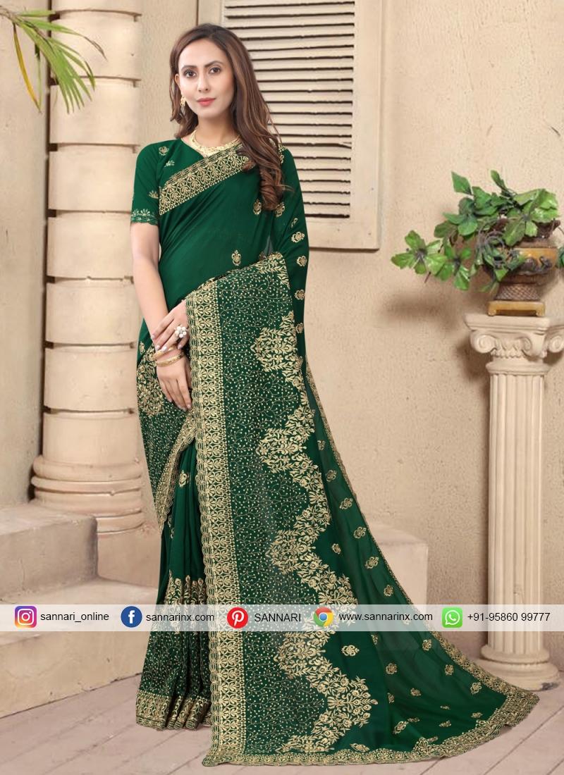 Green Silk Designer Saree
