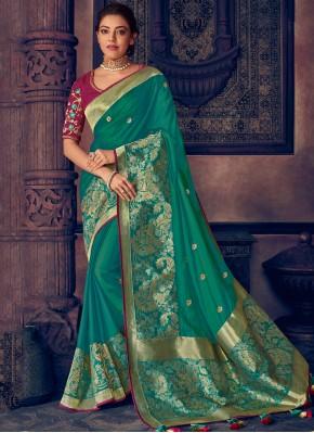 Green Silk Reception Traditional Designer Saree